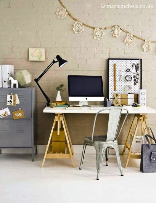 Industrial decor home office