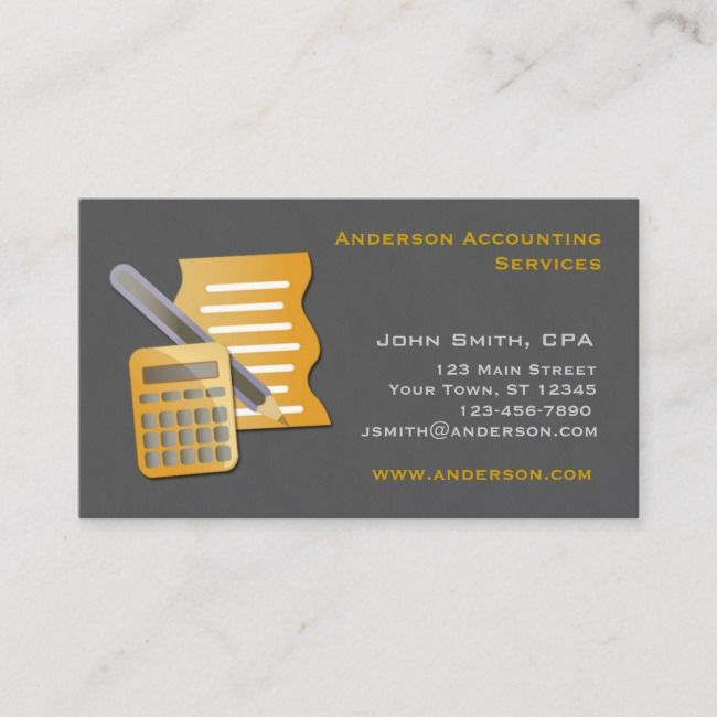 Accountant Business Card Zazzle Com Unique Business Cards Accounting Accounting Services