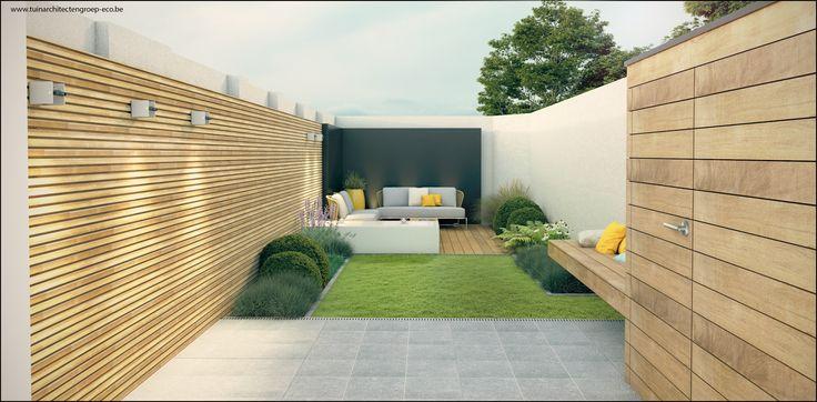 Tuinontwerp Kleine stadstuin : Tuinarchitect Timothy cools  Firma : Tuinarchitectengroep eco bvba  Aalst