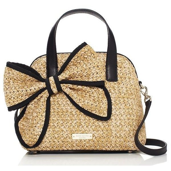 kate spade new york Kate Spade Belle Place Straw Small Maise (195 CAD) ❤ liked on Polyvore featuring bags, handbags, bolsa, purses, kate spade bags, woven purse, kate spade, summer straw handbags and white purse