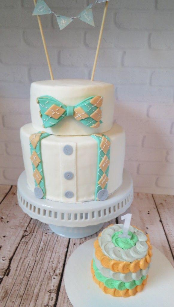 Little Man Bowties 1st Birthday Cakes