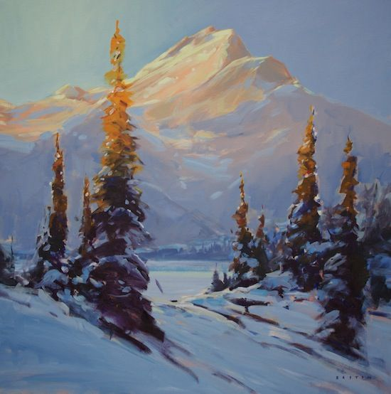 """'Last Warmth' 30"""" x 30"""" acrylic on canvas by Charlie Easton"""