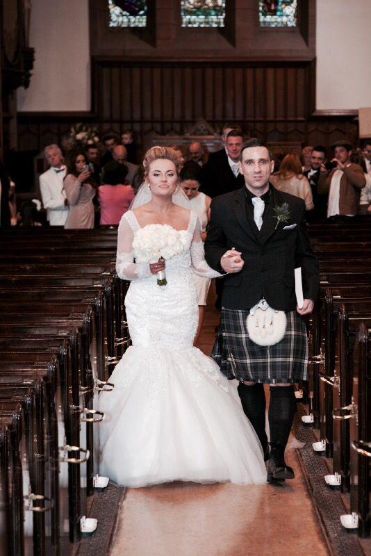Wedding march back up the aisle :) St. Stephens church, Stockbridge, wedding Edinburgh