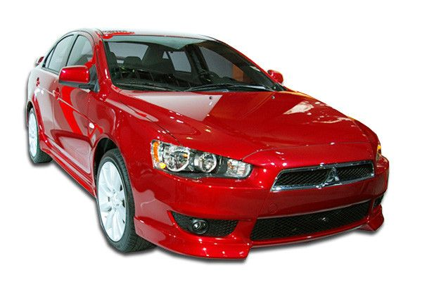 2008-2015 Mitsubishi Lancer Duraflex GT-S Look Front Add On Bumper Extensions - 2 Piece