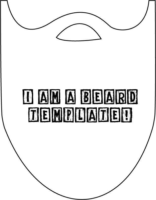 {Crafty} Lumberjacks Beard + DIY + template!