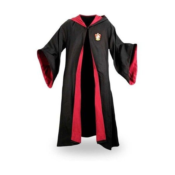 Harry Potter Gryffindor Robe Black/Red XL ❤ liked on Polyvore featuring intimates, robes, red robe and black robe