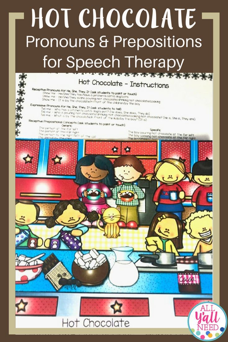 Pronouns, Places & Possessives: Winter targets receptive and expressive pronouns, prepositions, and possessive /s/ with engaging scenes and home practice pages. It is made for speech & language therapy and can be used by teachers targeting these goals, also. Vocabulary Speech Therapy  Winter Possessive Pronouns #SLP #Vocabulary #Pronouns #WinterActivities