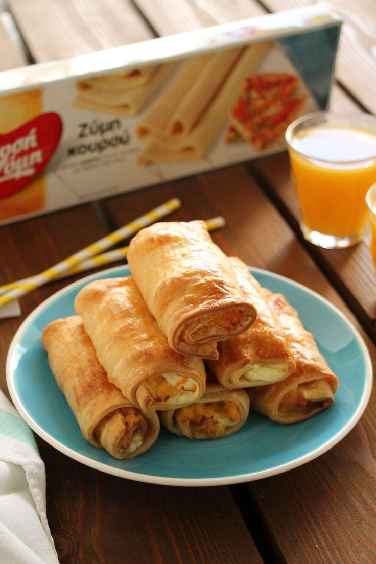 Ρολάκια με αυγά, μπέικον και τυρί κρέμα - The one with all the tastes