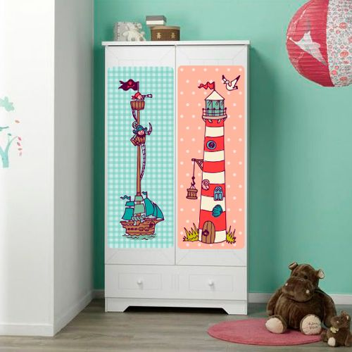Vinilo decorativo para habitaci n infantil con motivos for Vinilo decorativo para habitacion