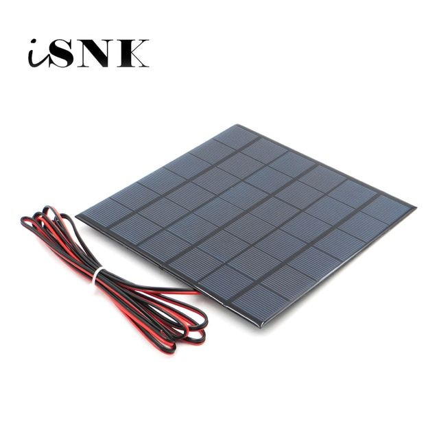 6v 9v 18v Solar Panel With 100 200cm Wire Mini Solar System Diy For Battery Cell Phone Charger 2w 3w 4 5w 6w 10w Solar Toy Review Cell Phone Charger Solar Panels Solar