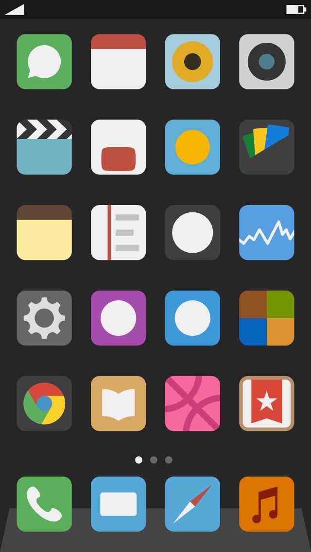 iOS Flat Design
