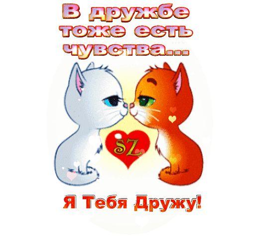 Анимированная открытка Я Тебя Дружу!