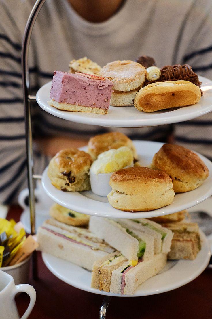 "qorquetgoes: ""Afternoon tea at Patisserie Valerie """