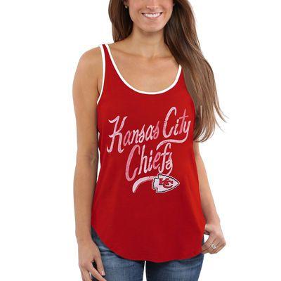 Women's Kansas City Chiefs Junk Food Red Roster Ringer Tank Top
