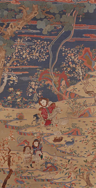 An Embroidered-Embellished Kesi Panel, Late Qing Dynasty, from Michaan's Auctions