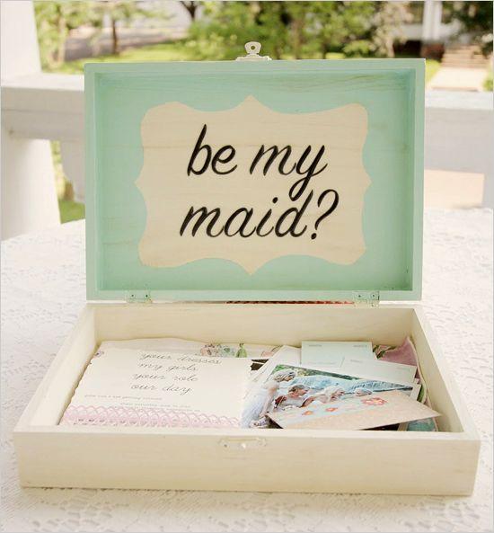 boxes for your bridesmaids. adorable idea!