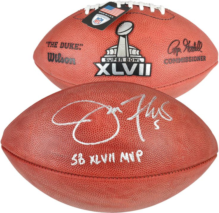 "Joe Flacco Baltimore Ravens Super Bowl XLVII Autographed Pro Football with ""SB 47 MVP"" Inscription"