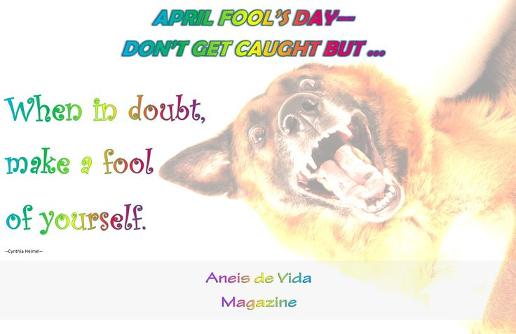 April Fools Day  http://aneisdevida.co.za