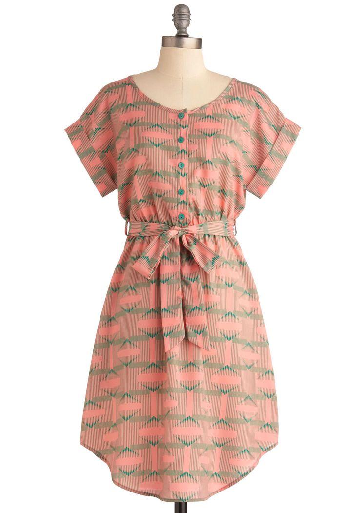 .: Summer Dresses, Dresses Refashion, Pink Green Dresses, Retro Vintage Dresses, Mod Retro, Modcloth Com, Shirts Dresses Style, Modcloth Sound, Fun Dresses