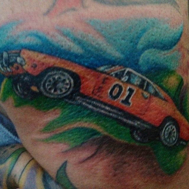 dukes of hazzard tattoo tattos piercings pinterest duke and tattoos and body art. Black Bedroom Furniture Sets. Home Design Ideas