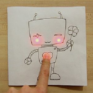 Circuit slickers? Yes you read correctly, stickers that can be used to create circuits on paper.