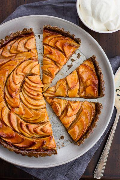 Apple Quince Tart with Gluten-Free Buckwheat Crust via The Bojon Gourmet #recipe
