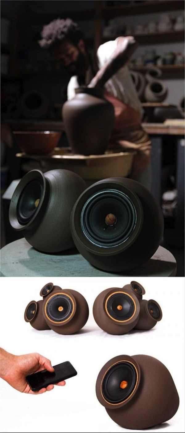 Listening to the Sound of the Eart Chilean designer Pablo Ocqueteau wanted to give a new idea of tradition. And he did. Made of clay, his speakers are…