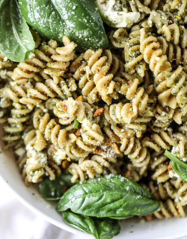 I have the dish you're going to eat morning, noon and night this weekend! And just to play it safe? Let's say the entire rest of the summer. K? Great. Pistachio pesto pasta salad could only be made b