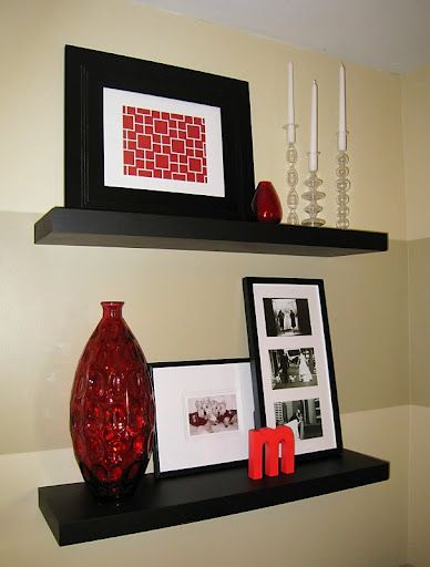 Floating shelf decor ideas