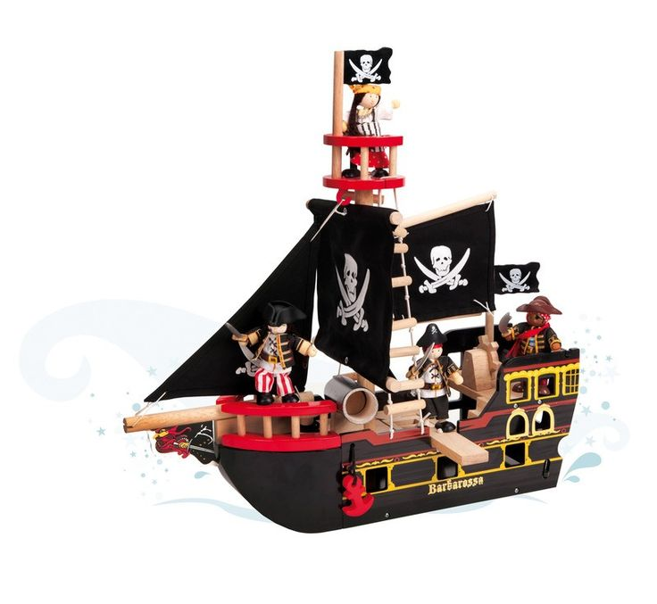 Le Toy Van - Wooden Pirate Ship Barbarossa. Doll house for the girls, pirate ship for the boys!! Wonderful for role play!! #EntropyWishList #PinToWin