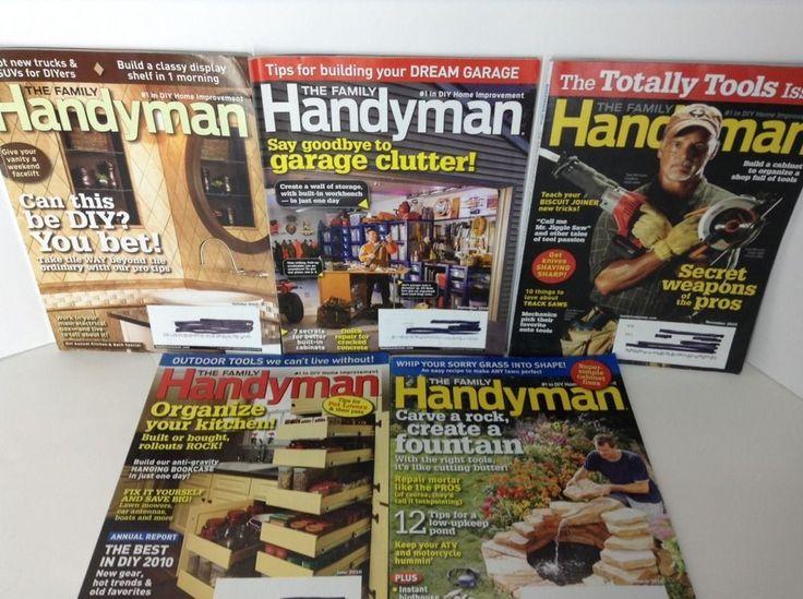 Family Handyman Magazine Lot of 5 From 2010 Tools Kitchen Bath Pond Fountain
