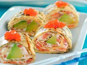 Омлет-закуска с рыбой