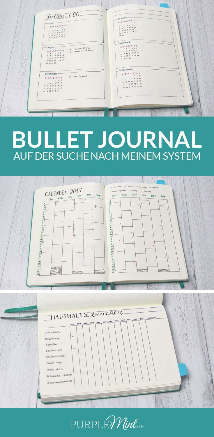 Bullet Journal - Future Log - Calendex - Haushaltstracker