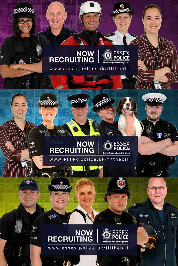 We have officers from all different backgrounds in a variety of different roles protecting and serving the communities of Essex. They fit the bill, could you?