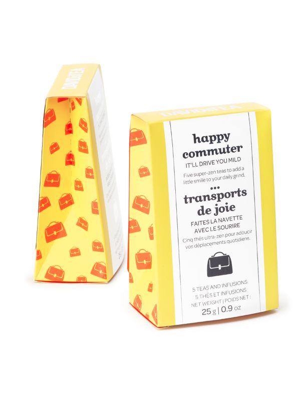 Commute in style with this portable collection of five teas.