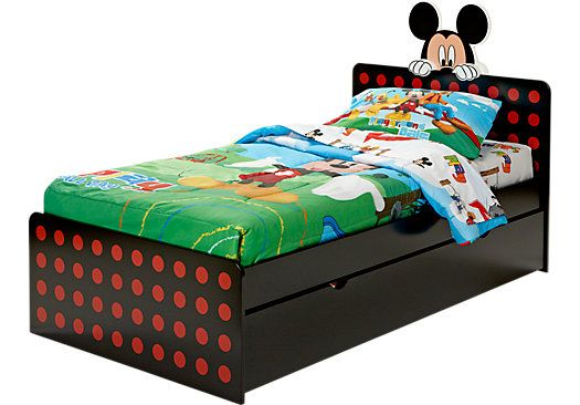Pin by gretchen jansen bell on disney the mouse 39 s house for Rooms to go kids twin beds