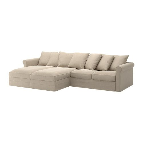GrÖnlid Sectional 4 Seat With Chaise Sporda Natural Ikea