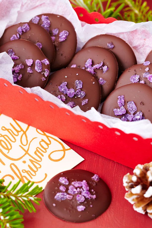 18 best handmade christmas tesco images on pinterest edible rose and violet are brilliant together in these chocolate drops and make a lovely edible christmas solutioingenieria Images