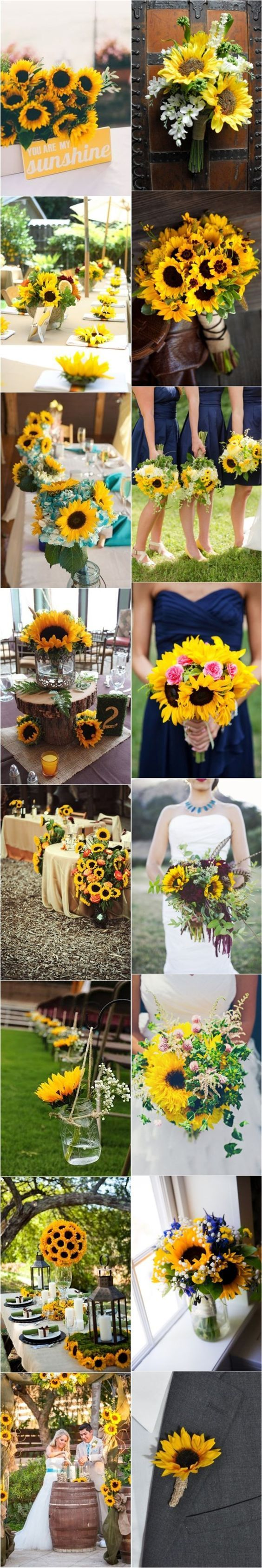 best Wedding Ideas images on Pinterest Sunflowers Wedding