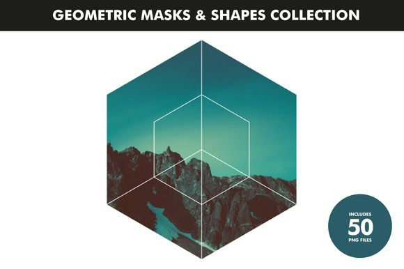 Geometric Masks & Shapes Collection by Offset on Creative Market