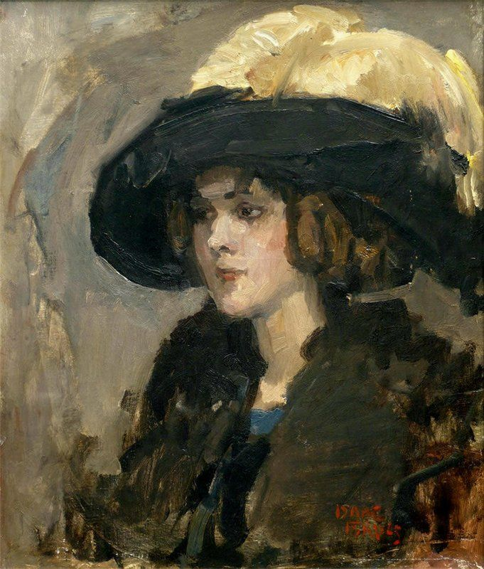 The Athenaeum - Lady with Hat (Isaac Israels - )