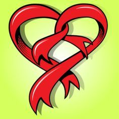 ... red ribbon in heart shape more heart shape red ribbon in heart shape