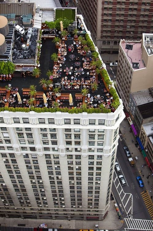 Dinner on a roof top!: Rooftop Bar, Places, New York, Nyc, Restaurant, Newyork, Rooftops