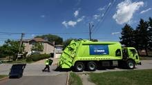 Private contractor garbage pickup lags into the night