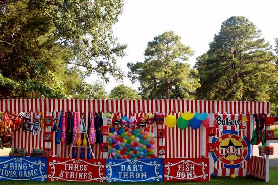 Carnival game booths (for Cokesbury's Everywhere Fun Fair )