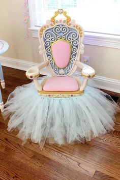 Royal throne from a Princess Pink Cinderella Birthday Party at Kara's Party Ideas. See more at http://karaspartyideas.com!