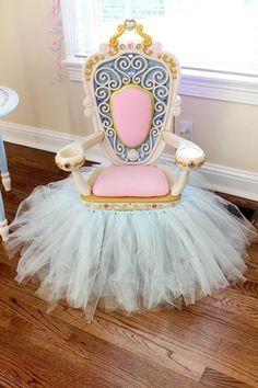 Royal throne from a Princess Pink Cinderella Birthday Party at Kara's Party Ideas. See more at http://karaspartyideas.com!