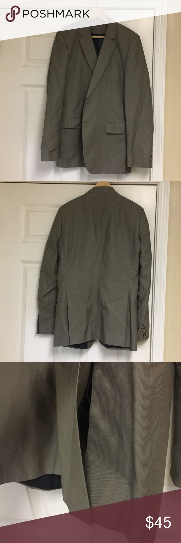 "⚡️SALE⚡️Zara Man gray blazer Zara man blazer • gray • Sz 40 • double vent back • 2-button closure • 27"" sleeves • 17"" shoulders • 20"" armpit to armpit • excellent condition • fast same/next day shipping • BUNDLE &?BUY IT NOW!!! Zara Jackets & Coats"