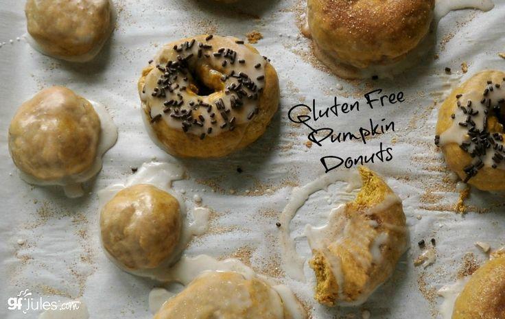 gluten free pumpkin donuts Pinterest - gfJules