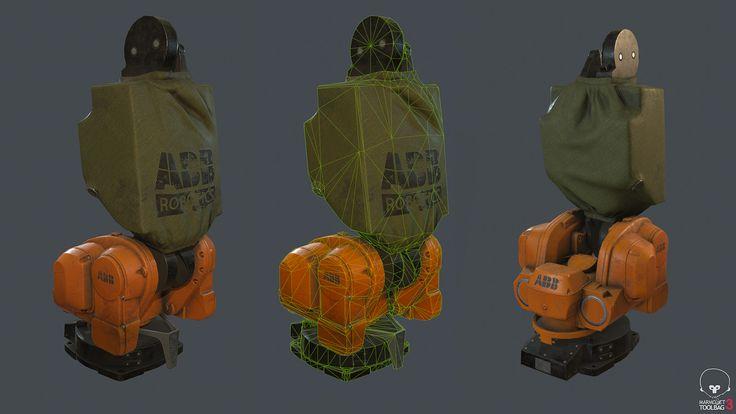 Part IRB 5400 ABB Robotics low poly, Alexander Lyapsin on ArtStation at https://www.artstation.com/artwork/Z918Z